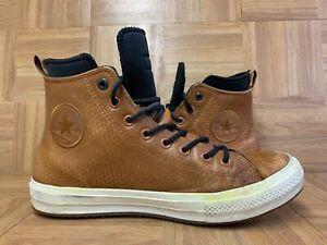 RARE🔥 Converse Waterproof Hi Boots Sz 10 Men's Sneakers Lunarlon Brown 153572C