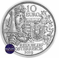 10 euros AUTRICHE 2019 - Chevalier, Récits de la Chevalerie - Argent 925‰ - BU