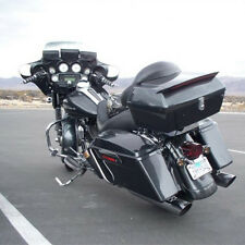 Black Motorcycle Trunk Tail Box Pack For Kawasaki W/ Tail Light&Backrest&Rack