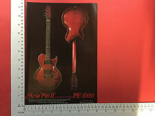 Aria Pro II PE1000 electric guitar vintage magazine advert