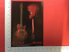 Aria Pro II PE1000 electric guitar period magazine advert