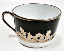 Haviland Limoges Prestige Collection Feuille de Platine Flat Cup for Coffee/Tea