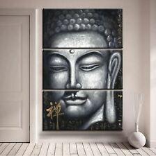 Buddha Portrait Monochrome 3 PCs Canvas Printing Wall Picture Poster Home Decor