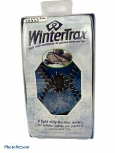 New Winter Trax Snow/Ice Traction Spikeless Fits Most Women 6 to Mens 12