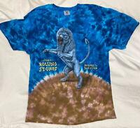 VTG Rolling Stones 1997 Bridges To Babylon Tour T-shirt Tie Dye MENS Size XL