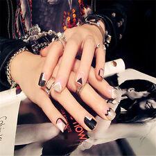 24 pcs Pre-design Tips Acrylic Fake Nail Tip False French Full Fake Nails Tips