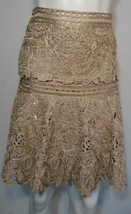 OSCAR DE LA RENTA  pink and gold fit and flare self portrait skirt size small