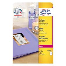 Avery Laser Labels 4 Page White Pk40 L7769-40