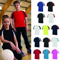 AWDis Just Cool Kids Contrast Cool T-Shirt - Team sport/PE/Football kit uniform