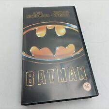 Batman (1989) VHS Video [G+] Michael Keaton & Jack Nicholson   Warner Bros.