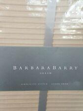 New Barbara Barry Dream Simplicity Stitch Silver birch Beige Pleated Pillow Sham