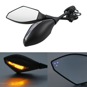 Rearview Mirrors Clear LED Turn Signal For Honda CBR600RR 03-19 CBR250R 11-16 15