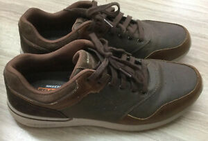 Mens Sketchers Leather Trainers Size 12 Vgc  HARDLY WORN