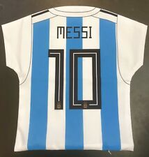 ARGENTINA MESSI Cushion Cover / Pillowcase (42 X 42cm) Jersey Style with #10