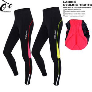 Ladies Cycling Tights Compression Padded Leggings Cycle Womens Tights / Trousers