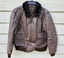Vintage Genuine USN Leather G-1 Bomber Intermediate Flight Jacket - Size 44