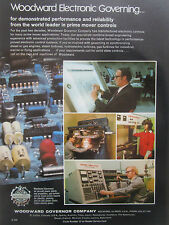 10/1977 PUB WOODWARD GOVERNOR ROCKFORD ELECTRONIC CONTROL SYSTEMS ORIGINAL AD