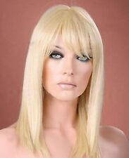 Ladies Long Straight Light Blonde Fashion Wig Forever Young Wigs