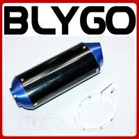 38mm BLUE CNC Alloy Exhaust Muffler + Clamp 125cc 160cc PIT PRO Trail Dirt Bike