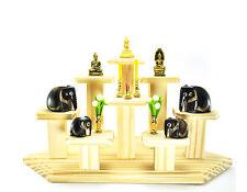 Nice SET of 8 mini Altar Tables worship Thai Buddha Buddhist amulet strong Wood