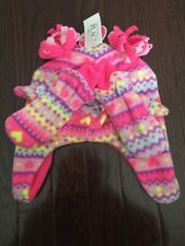 NWTS THE CHILDRENS PLACE BABY GIRLS FLEECE HEARTS HAT/MITTENS SZ 12-24MTHS
