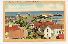 Oaks Bluffs Bird's-Eye View—Vintage MARTHA'S VINEYARD Linen PC Curio Pub 1940s