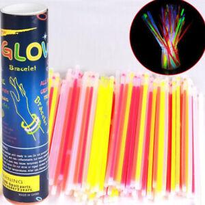 1Box 7 Color Glow Sticks Light Sticks Shinning Fluorescence Light Bracel SL