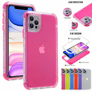 For iPhone 13 Pro Max 12 11 XS XR 87 Clear Defender Case Hybrid Shockproof Cover