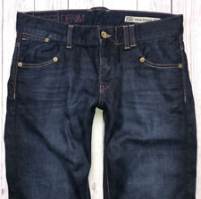 Mens TOMMY HILFIGER Rogar Jeans W32 L30 Blue Regular Bootcut Fit