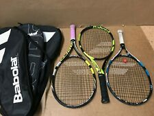 New listing Lot of 3 BABOLAT Racquets w/ covers Woofer System, Aeromodular, Pure Drive