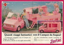 X9494 BARBIE - Camper da sogno - Pubblicità 1989 - Advertising