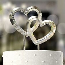 Double Heart Cake Topper - Ideal for Wedding Cakes