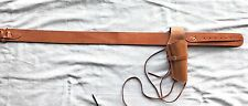 NEW Leather Holster and Belt Smooth Right Hand Leather Set TAN HIDE 70200