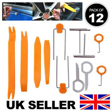 12 PIECES PLASTIC CAR RADIO DOOR CLIP PANEL TRIM DASH AUDIO REMOVAL PRY KIT TOOL