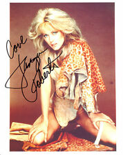 "TANYA ROBERTS, ""SHEENA"" AUTOGRAPHED SIGNED 8X10 IN HOT LEOPARD SUIT WITH COA"