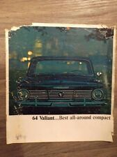 Original Vintage 1964 Valiant...Best all-around compact Chrysler Plymouth