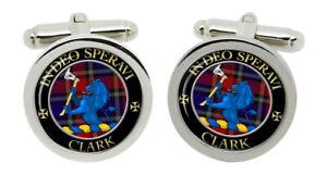 Clark lion Scottish Clan Cufflinks in Chrome Box