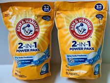 2 Arm & Hammer Oxi Clean Stain Fighters 2in1 Power Paks Baking Soda Freshness