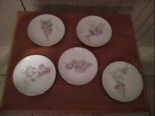 5 Precious moments collector plates, 1984.