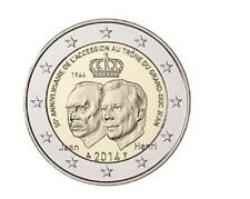 "2 euro 2014 Luxemburg  ""50th Year of Throne"" Commemorative - zo uit de rol!"