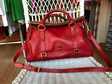 Dooney And Bourke Large Red Florentine satchel EUC
