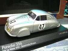 PORSCHE 356 Le Mans Racing #47 Alu Leichtmetall Coupe 1951 PMA Minichamps 1:43