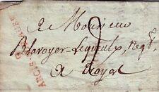 AUBE-ARCIS SUR AUBE 22 JANVIER 1808 - LETTRE AVEC TEXTE