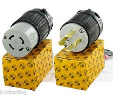 Set Nema L15-30 Plug/Connector L15-30P L15-30R  30A 250V 3Ø 3P4W