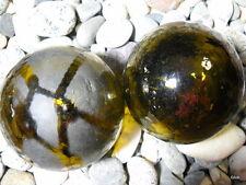 2 Brown Authentic Japanese/Korean Glass Fishing Floats Alaska Beach Combed