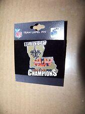 Believe Dat Super Bowl 44 XLIV Champions Saints lapel pin #'d