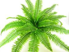 Artificial Fresh green silk Boston Fern Artificial Plant Bush ~ Flat-pack