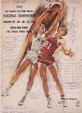 ORIGINAL 1963 LOS ANGELES CITY HIGH SCHOOL BASKETBALL CHAMPIONSHIP PROGRAM