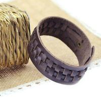 1PC Fashion Unisex Punk Wide Genuine Leather Belt Bracelet Cuff Wristband Bangle