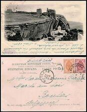 IMPERIAL RUSSIA, CRIMEA - INKERMAN, SEVASTOPOL & ORIGINAL ca 1903 POSTCARD